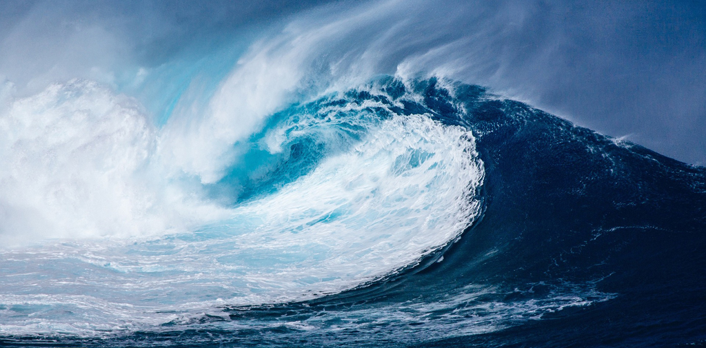 Colapsada por una ola