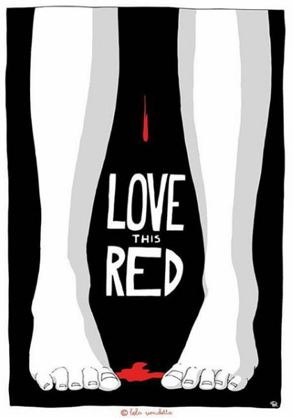 Free bleeding - Love this red - Raquel Riba Rossy